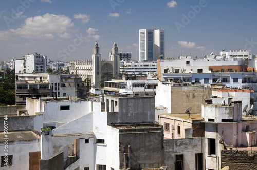 Photo  rooftop skyline view of casablanca morocco