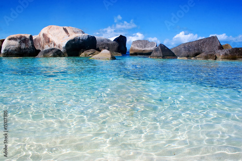 Foto-Leinwand - virgin gorda lagoon beach