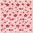 rosa blümchen kitsch tapeteblumen - illustration