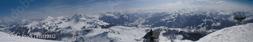 Montage in der Fensternische Gebirge Kitzbüheler Alpen