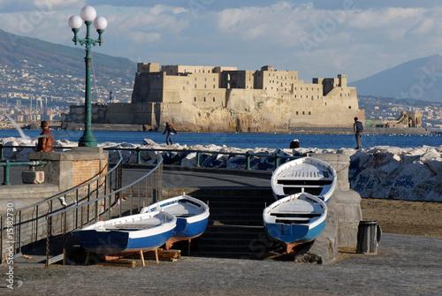 Spoed Foto op Canvas Napels Il mare d inverno - Napoli Campania
