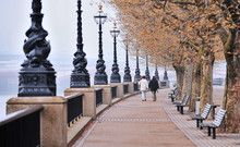 Walk Along The Thames In London