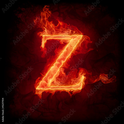 Recess Fitting Flame Fire letter Z