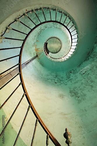 Fototapety, obrazy: lighthouse spiral staircase