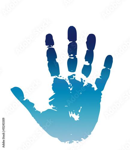 Fotografie, Obraz  Handprint stop