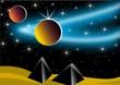 Sternenhimmel mit Planeten