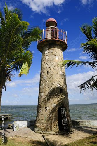 Foto-Kassettenrollo premium - Tropical lighthouse (von roxxyphotos)