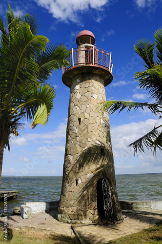 Foto-Kassettenrollo premium - Tropical lighthouse