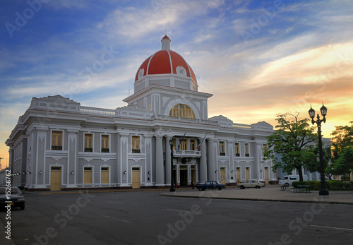 Cienfuegos city hall, cuba Wallpaper Mural