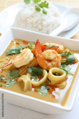 Seafood Curry Canvas Print