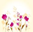 Pink flowers_golden