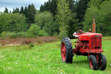 Vintage Red Tractor