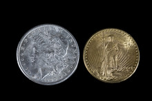 Silver Dollar And Gold Twenty ...