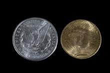 Silver Dollar And Gold Twenty ...