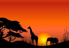 Africa Scene Vector