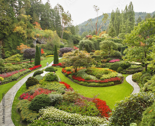 Foto op Canvas Tuin The Sunken-garden on island Vancouver