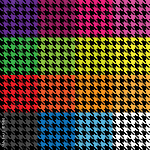 Photo  Trendy houndstooth vector that tiles seamlessly as a pattern.