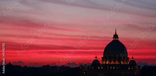 La pose en embrasure Rome Pink Sunset Rome Italy