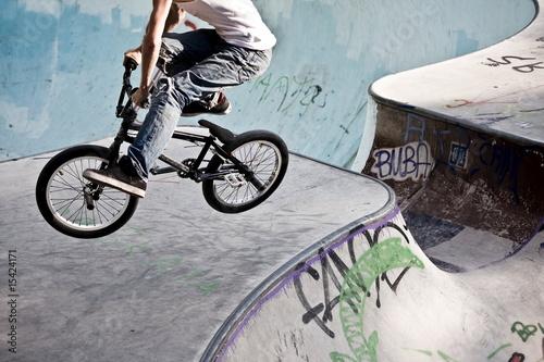 Foto BMX im Skatepark