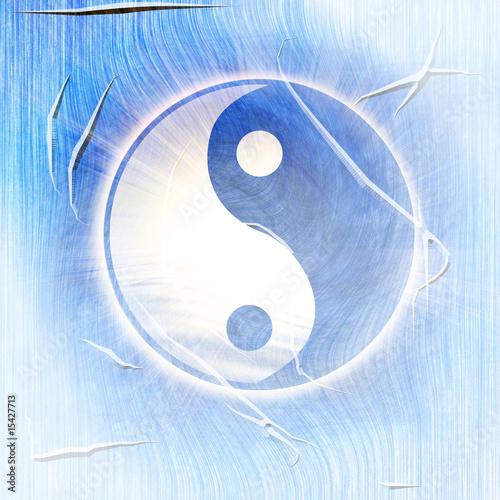 Foto-Stoff bedruckt - yin yang (von Argus)