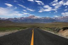 Rural Road In The Eastern Sierras