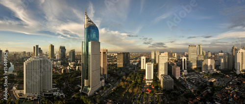 Photo sur Toile Indonésie Jakarta City Skyline