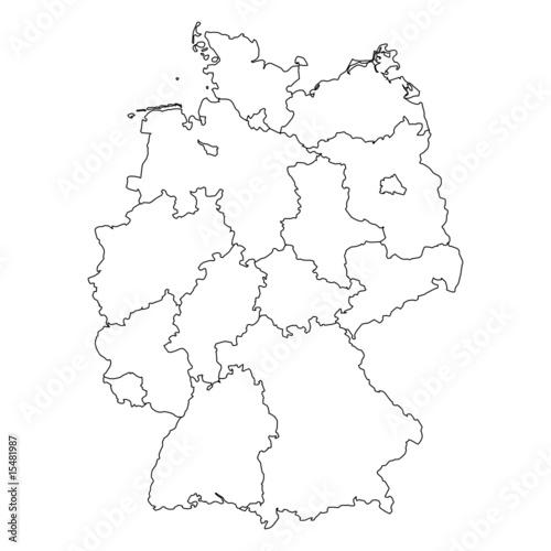 Karte Deutschland Umriss Ii Buy This Stock Vector And Explore