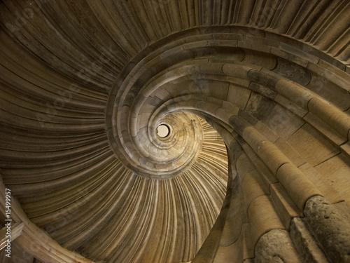 Poster Spirale spiraltreppe