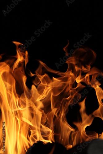 Fotobehang Vuur flamme large