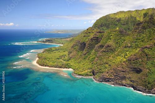 Foto-Kissen - Na Pali Coastline & Kee Beach (von Trey)