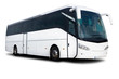 canvas print picture - White Tour Bus