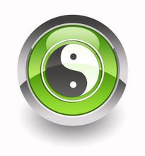 Yin Yang Glossy Icon