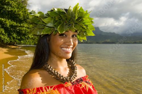 Fotografie, Obraz  smiling hula girl