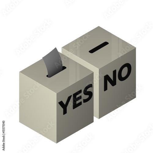 Valokuva  yes no box