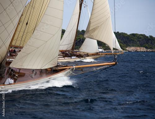 Poster Zeilen Old sailing boat