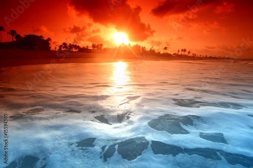 Motiv-Rollo Basic - ocean sunrise