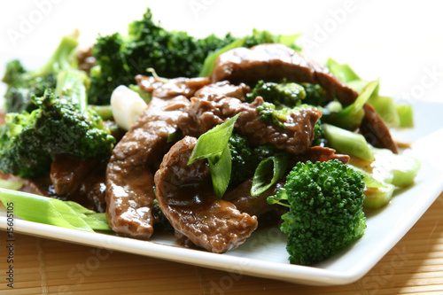 Beef and Broccoli Canvas Print
