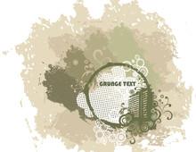 Grunge Background With Urban E...