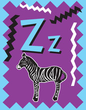 Flash Card Letter Z Nouns. See Whole Alphabet In My Series!