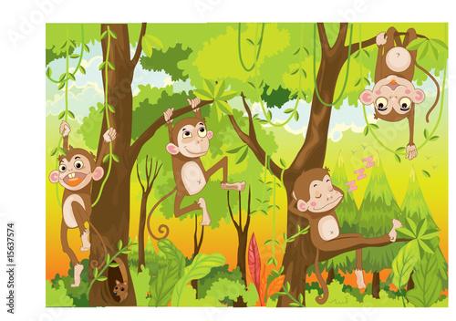 cartoon monkeys #15637574