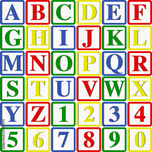 Fototapeta dla dzieci   alfabet