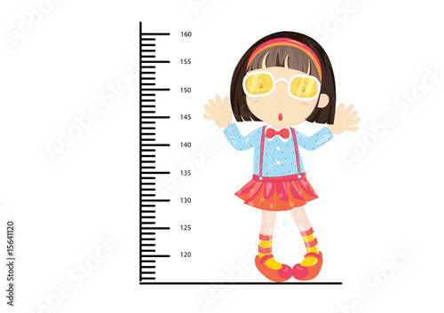 Wall Murals Height scale girl