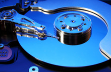 Hard Disk Drive (toned In Blue)