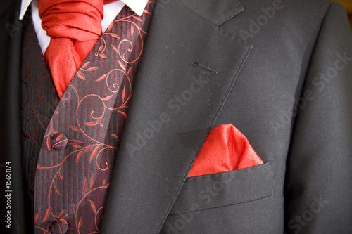 jacket of groom Canvas Print