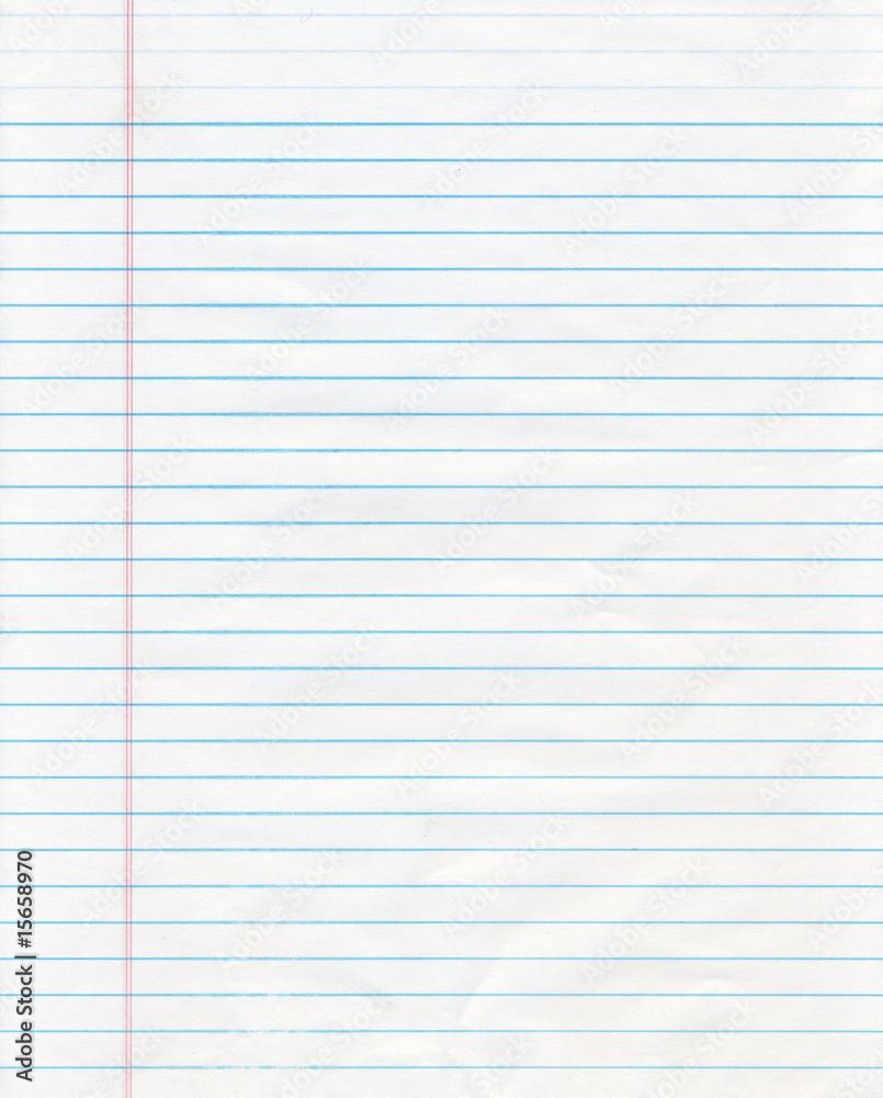 Fototapeta Blue Lined Paper
