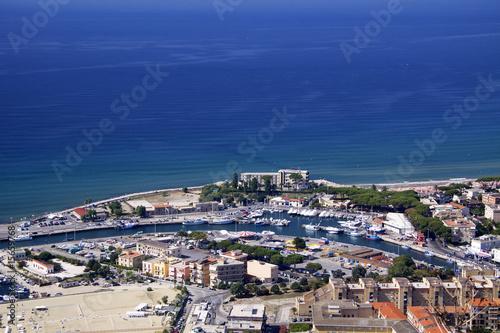 Valokuva  Terracina from above