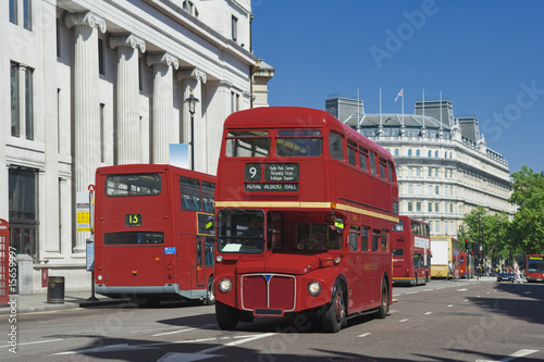 Aluminium Prints London red bus Old London Bus