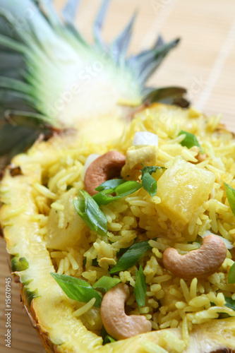 Pineapple Fried Rice Canvas Print