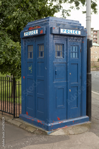Tablou Canvas vintage police box