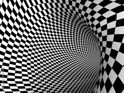 Wall Murals Psychedelic schach tunnel